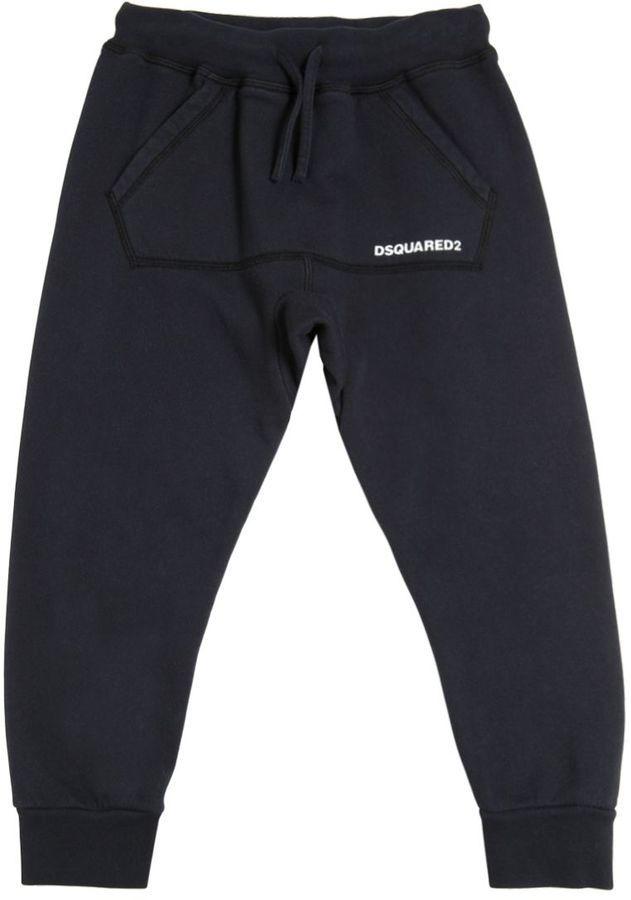 DSQUARED2 Logo Detail Cotton Jogging Pants
