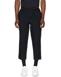 Comme des Garcons Homme Plus Navy Elastic Waist Trousers