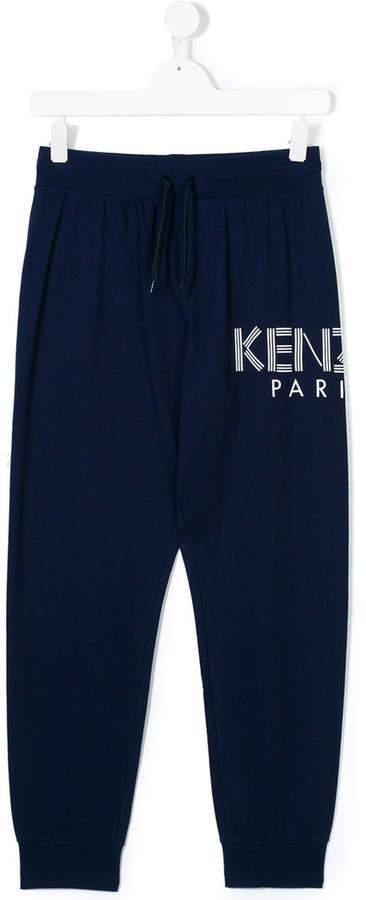 Kenzo Kids Logo Print Jogging Trousers