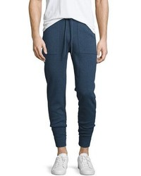 Michael Kors Michl Kors Marled Cotton Jogger Pants Navy