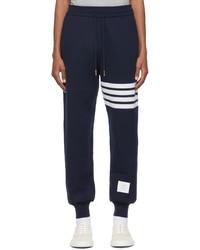 Thom Browne Navy Cashmere Engineered 4 Bar Lounge Pants