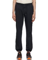 Z Zegna Navy Cotton Jogger Lounge Pants