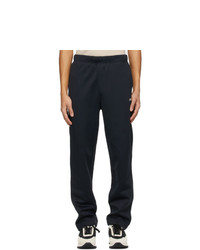 AMI Alexandre Mattiussi Navy Embroidered Technical Lounge Pants