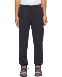 Stone Island Navy French Terry Lounge Pants