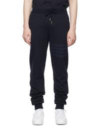 Thom Browne Navy Loopback 4 Bar Lounge Pants