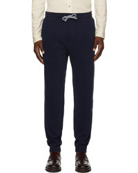 Brunello Cucinelli Navy Tapered Jogger Lounge Pants