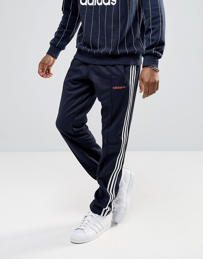 ... adidas Originals London Pack Block Tapered Joggers In Navy Bk7872 ...