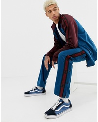 YOURTURN Popper Track Pant In Blue With