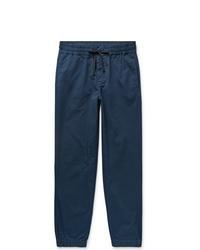 J.Crew Storm Blue Gart Dyed Cotton Blend Twill Drawstring Trousers