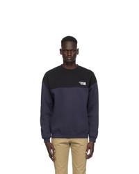 Vetements Black And Navy Cut Up Logo Sweatshirt