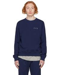 Off-White Blue Slim Logo Arrows Sweatshirt