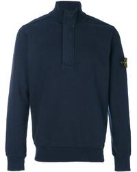 Stone Island Button Collar Sweatshirt