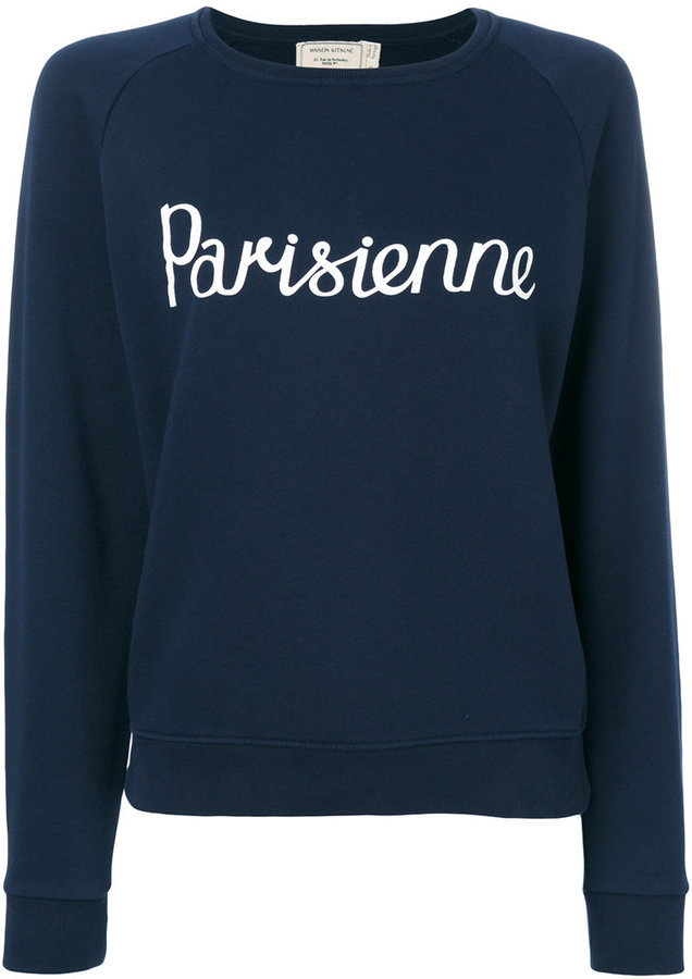 MAISON KITSUNE Maison Kitsuné Parisienne sweatshirt   Where to buy ... 959b602e72a9