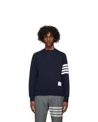 Thom Browne Navy 4 Bar Classic Sweatshirt