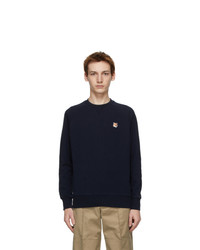 MAISON KITSUNÉ Navy Fox Head Adjusted Sweatshirt
