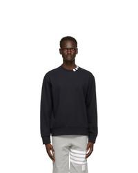 Thom Browne Navy Loopback 4 Bar Sweatshirt
