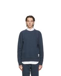 Thom Browne Navy Loopback Classic Sweatshirt
