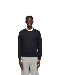 Thom Browne Navy Loopback Rwb Stripe Sweatshirt