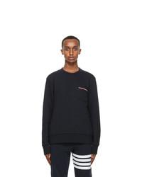 Thom Browne Navy Striped Pocket Sweatshirt