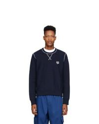 Kenzo Navy Tiger Crest Sweatshirt