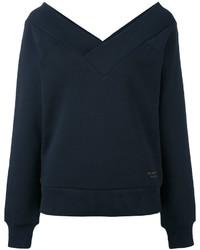 Burberry Open V Neck Sweatshirt