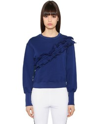 MSGM Ruffled Cotton Sweatshirt