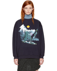 See by Chloe See By Chlo Navy Mountain Sweatshirt