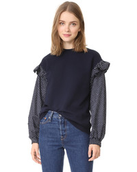 Clu Too Polka Dot Sleeve Sweatshirt