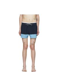 BOSS Blue Filefish Swim Shorts
