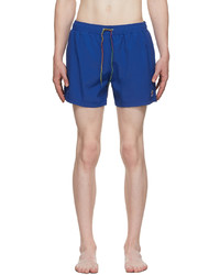 Ps By Paul Smith Blue Zebra Logo Swim Shorts