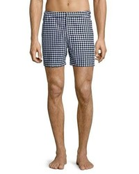 Orlebar Brown Bulldog Huron Mid Length Swim Trunks Navy