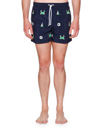 Thom Browne Icon Embroidered Swim Shorts
