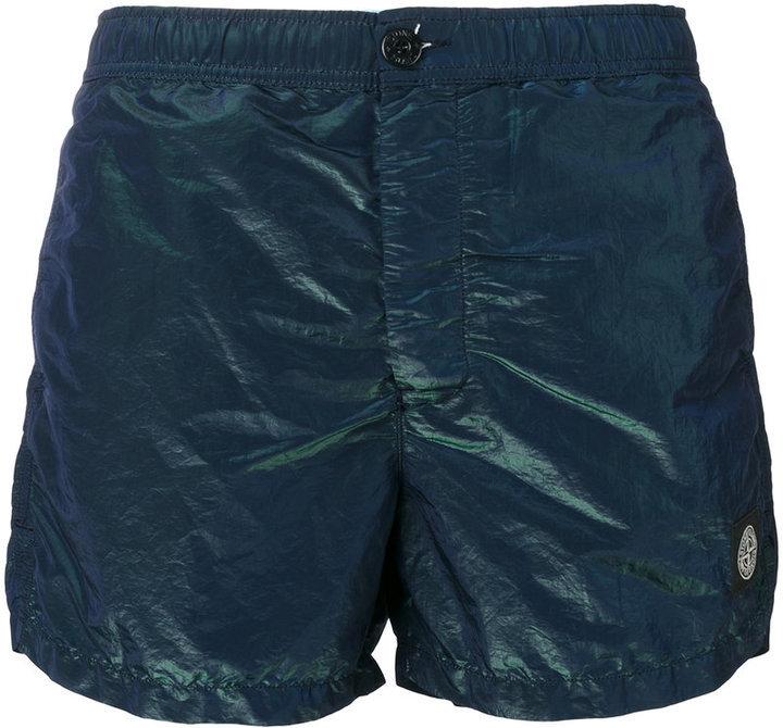 f189d44a86 Stone Island Iridescent Swim Shorts, $140 | farfetch.com | Lookastic.com