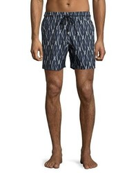 Vilebrequin Mahina Penguin Swim Trunks Navy
