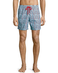 Vilebrequin Moorea Repeating Fish Swim Trunks