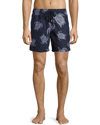 Vilebrequin Moorea Sharkskin Turtle Swim Trunks