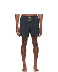 Loro Piana Navy Bay Soft Albatros Swim Shorts