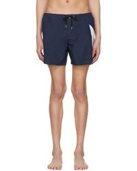 Moncler Gamme Bleu Navy Contrast Swim Shorts
