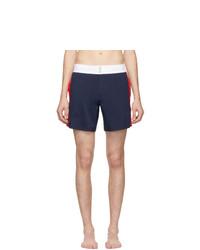 Vilebrequin Navy Flat Belt Merle Swim Shorts