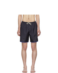 Gucci Navy Logo Stripe Swim Shorts