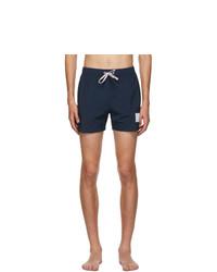 Thom Browne Navy Nylon Drawcord Swim Shorts
