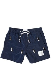 Thom Browne Nylon Swim Shorts Wpenguin Embroidery