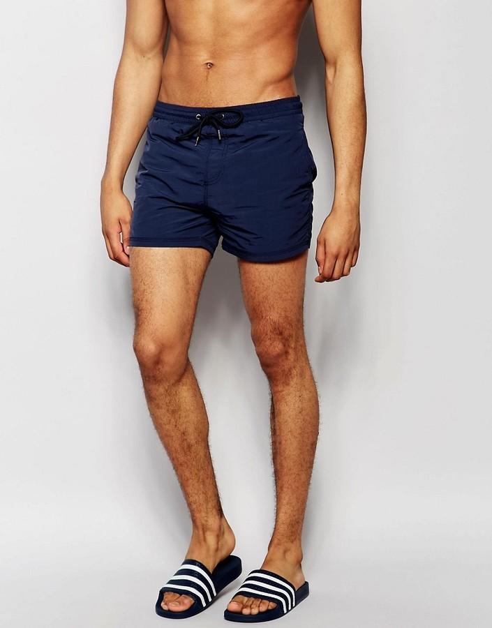 89ed3635a8 Pull&Bear Swim Shorts In Navy, $12 | Asos | Lookastic.com