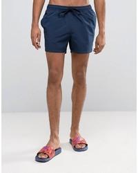 Asos Swim Shorts In Navy Short Length