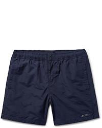 Saturdays Nyc Trent Schiffli Mid Length Embroidered Swim Shorts