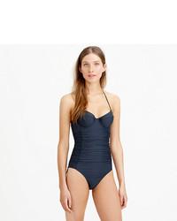 80317fc54d303 J.Crew D Cup Halter Underwire One Piece Swimsuit, $114 | J.Crew ...