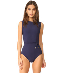 Michael Kors Michl Kors Collection Nautical Strappy One Piece Swimsuit
