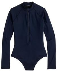 J.Crew Zip Up Long Sleeve Swimsuit