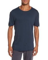 AG Jeans Ag Ramsey Shredded Hem T Shirt