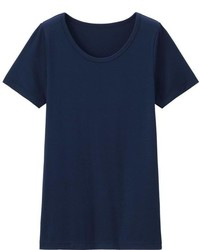 Uniqlo Kids Heattech U Neck Short Sleeve T Shirt